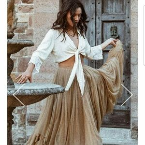 NWT Spell and the gypsy Grace Tulle Skirt